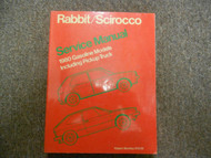 1980 VW Rabbit Scirocco Gas Models Pickup Truck Service Repair Manual 1980 x