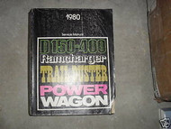 1980 Dodge Ramcharger Trailduster Truck Service Repair Shop Manual FACTORY OEM