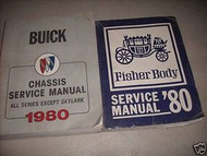 1980 Buick Regal Lesabre Electra Riviera Century Service Shop Repair Manual SET