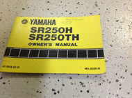 1980 1981 YAMAHA SR250H SR250TH FACTORY OWNERS Manual OEM ORIGINAL x