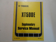 1979 Yamaha XT500E Supplementary Service Manual FACTORY OEM BOOK 79 DEAL 2ND ED