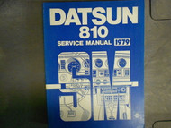 1979 Datsun Nissan 810 Service Shop Repair Manual Factory OEM 79 x