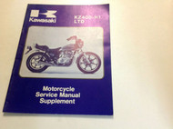 1979 1980 KAWASAKI KZ400 H1 LTD KZ400-H1 Service Repair Shop Manual SUPPLEMENT