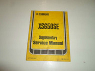 1978 Yamaha XS650SE Supplementary Service Manual FACTORY BOOK 78 WATER DAMAGED