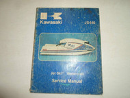 1977 1978 1980 1981 Kawasaki JS440 Watercraft Service Manual WATER DAMAGED