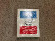 1976 Chrysler Dodge Plymouth Car Models Service Shop Repair Manual Set BRAND NEW