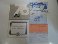1976 Arctic Cat Jag Operators Owners Manual SNOWMOBILE FACTORY OEM 76 DEALERSHIP