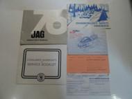 1976 Arctic Cat Jag Operators Owners Manual SNOWMOBILE FACTORY OEM 76 DEALERSHIP