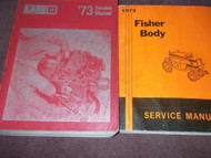 1973 Pontiac Firebird GTO Trans Am Grand Prix Service Shop Repair Manual SET x