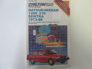 1973 1988 DATSUN NISSAN 1200 210 SENTRA Service Workshop Manual Chilton NEW