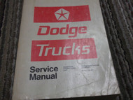 1972 1973 DODGE TRUCK TRUCKS 100-800 4x4 Forward Con Shop Service Repair Manual