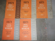 1971 Ford Truck Trucks Bronco Econoline Club F-Series Service Shop Manual Set 71