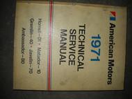 1971 AMC Gremlin Hornet Matador Technical Repair Service Shop Manual OEM 1971