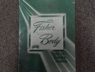 1970 Chevrolet Camaro Pontiac Firebird Fisher Body Service Repair Manual OEM
