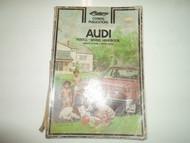 1970 72 74 1976 Clymer Audi 100LS 100 LS Series Service Repair Handbook Manual