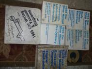 1985 Ford MUSTANG CAPRI THUNDERBIRD MARK VII Service Shop Repair Manual Set OEM