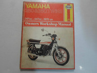 1970 -1976 Haynes Yamaha 250 350 Twins Service Repair Shop Manual 247cc 347cc