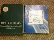 1969 BUICK SKYLARK RIVIERA WILDCAT GS 350 450 Service Shop Manual SET W FISHER B