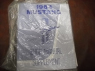 1964 Ford Mustang Service Shop Repair Manual Supplement NEW REPRINT 1964