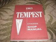1963 GM Pontiac Tempest Chassis Service Shop Repair Manual OEM Book 1963