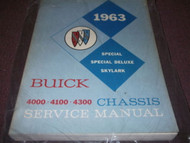 1963 Buick SPECIAL & SPECIAL DELUXE SKYLARK Service Shop Repair Manual FACTORY