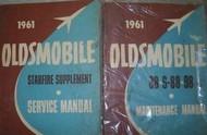 1961 Oldsmobile 88 S-88 S88 98 Service Repair Shop Manual SET W SUPPLEMENT NEW