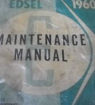 1960 Ford Edsel Maintenance Service Shop Repair Manual BRAND NEW REPRINT