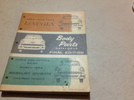 1953 1954 1955 LINCOLN BODY Parts Catalog Catalogue Manual Final Edition