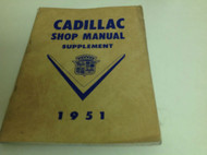 1951 Cadillac Shop Service Repair Manual FACTORY Supplement Slight Water DMG