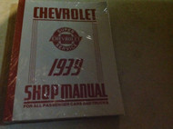 1939 CHEVY Chevrolet CARS CAR & TRUCKS Service Repair Shop Manual REPRINT NEW x