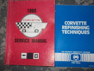 1988 Chevrolet Chevy CORVETTE Service Repair Shop Manual Set W TRAINING BOOK OEM