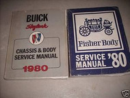 1980 Buick Skylark Chassis Body Service Shop Repair Manual Set OEM W FISHER BODY