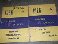 1966 AMC RAMBLER AMERICAN Service Shop Repair Manual SET W SUPPLEMENT X OEM