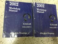 2002 MERCURY COUGAR Service Shop Repair Manual Set OEM 2 VOLUME SET BOOKS