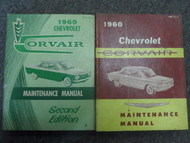 1960 Chevrolet CHEVY CORVAIR Maintenance Shop Manual Set FACTORY OEM BOOKS USED