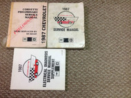 1987 Chevrolet CHEVY CORVETTE Service Repair Shop Manual SET PRELIMINARY + EWD X