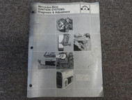1980s Mercedes Benz Ignition Systems Diagnosis & Adjustment Manual FACTORY OEM