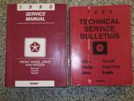 1990 Dodge Ram Van Wagon Caravan FWD Service Shop Repair Manual Set FACTORY OEM
