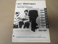 1971 Johnson Outboards Service Manual 60 HP 60ES71 60ESL71 OEM Boat x