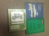 1979 GMC TRUCK CABALLERO Service Shop Repair Manual W UNIT BOOK + FISHER BODY