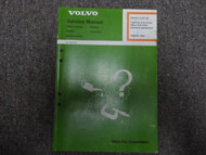 1982 Volvo 700 900 Lighting Instrumentation Electrical Equipment Service Manual