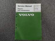 1985 Volvo DL GL Turbo Pre Delivery Repairs & Maintenance Service Manual OEM 85