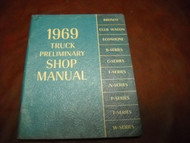 1969 Ford Truck Trucks Preliminary Shop Manual DAMAGED FACTORY OEM BOOK 69 DEAL