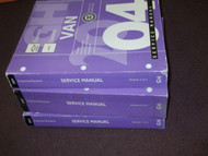 2004 Chevy Express VAN GMC SAVANA Service Repair Shop Manual Set FACTORY NEW 04