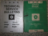 1989 Dodge Dakota TRUCK Service Repair Shop Manual SET W TECHNICAL BULLETINS