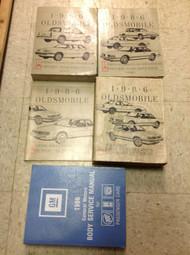 1986 OLDSMOBILE FIRENZA CALAIS CIERA DELTA 88 98 Service Shop Repair Manual Set