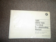 1986 86 BMW 735i 735 i Electrical Troubleshooting Service Repair Manual OEM 86