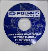 2005 POLARIS SPORTSMAN 600/700 Service Repair Manual CD FACTORY OEM X