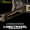 Long Travel +3 HD Chromoly Radius Rods 1.25x.120 wall