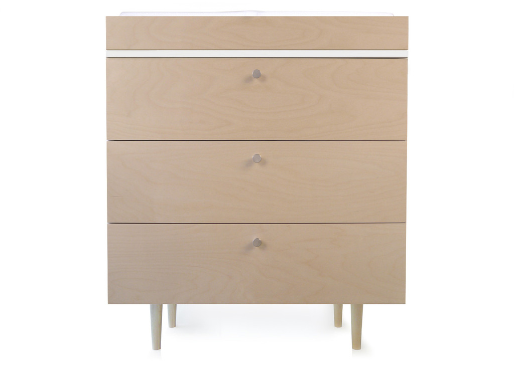 Ulm Birch and White dresser show with changing tray